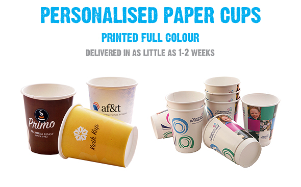 Personalised Cups | Printed Paper Cups | Custom Coffee Cups